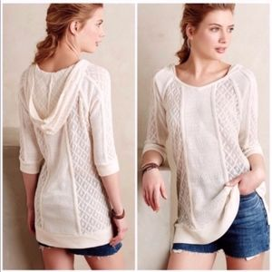 Anthro Meadow Rue Whispering Winds Tunic Sweater
